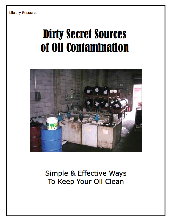 Dirty Secret Sources of Oil Contamination